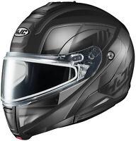 HJC Adult Black/Silver CL-Max 3 Gallant Modular Dual Lens Snowmobile Helmet Snow