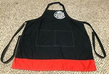 Nice Burger King Employee Uniform Apron Restaurant Black One Size Fits All Osfa