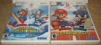 Mario Sonic Olympic At The Winter & Summer Games Nintendo Wii Lot of 2 Nes