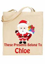 Bolsa De Navidad Para Niños Personalizado * (presenta pertenecen a) Santa ref 4