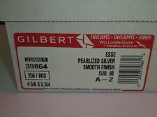 Envelopes Esse Pearlized Silver Smooth Finish A2 Gilbert #39864