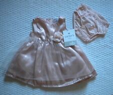 NWT CARTERS NEWBORN GIRLS LINED DRESS & DIAPER COVER HOLIDAY PARTY DRESS