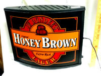 JW Dundee's beer sign double sided hanging light original honey brown lager KN2