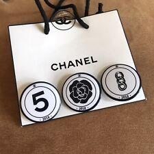 New Set of 3 Chanel No.5 Promo Pins Brooch Badges VIP Gift Handbag accessories