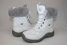 Ugg Australia Womens Adirondack Quilted Winter Snow White Color Boot Size 5.5 US