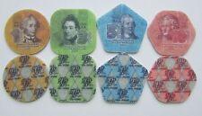 Transnistria 2014 New composite plastic coins 1 3 5 10 roubles AA - Full set UNC
