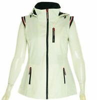 Tommy Hilfiger Women's Hooded Water Resistant Vest White Size Medium