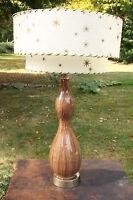 "Large 32"" Vintage Mid Century Ceramic Retro Raymor? Lamp Fiberglass Shade"