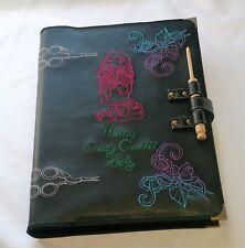 Patrón de ganchillo Carpeta/carpeta con Personalizado Bordado Cubierta de cuero de imitación