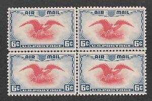 US #C23c (1938) 6c - MNH- VF/XF {Blk of 4 with center line} EFO: Utramarine