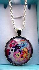 MY LITTLE PONY STRONG CHAIN SILVER PLATE 22 INCH GIFT BOX PARTY BIRTHDAY PRINCES