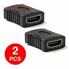 New 2x HDMI Female to Female Coupler Connector Extender Adapter Cable HDTV1080P