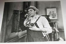 Vintage 8X10 Glossy Photo of a 1930's Era Farmer - Western Electric Wall phone!!