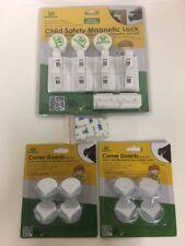 Deestep Child Safety Magnetic Locks & Corner Guards Safety Set. Brand New.