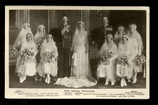 Royalty Wedding Viscount Lascelles Princess Mary early RP PPC 1922