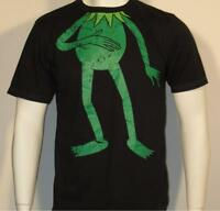 Licensed Mens Kermit the frog T-Shirt - Green - Retro - Rare - Muppets show Bnew
