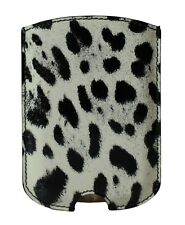 NEW DOLCE & GABBANA Phone Case Cover White Leopard Pattern Leather 11.5x8cm