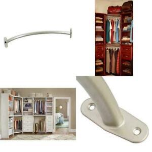Impressions 23 in. Nickel Corner Rounder Closet Rod Organizer Clothes Storage