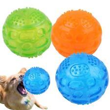 Pet Dog Cat Fetch Interactive Play Tough Bouncy Squeak Chew Toy Ball Fun Gift LJ