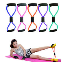 Yoga Fitness 8 Shape Pull Rope Latex Chest Exercise Resistance Bands Random Home