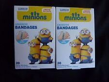 2 Boxs 40ct Minions Adhesive Bandages Fun Design Cushions Protects Long-lasting