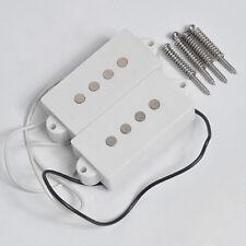 4 String Humbucker Pickups for Fender P Bass Pickup Guitar Parts White