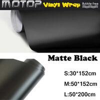 Matte Flat Black Vinyl Film Wrap Sticker Decal Bubble Free Air Release n r