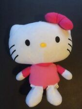 "Hello KITTY Plush Toy Pillow 13"" Stuffed  Animal Doll Girls PINK Fiesta Childre"