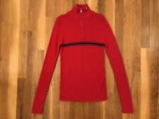 Vintage 90s Ralph Lauren Turtleneck 1/4 Zip-Up Long Sleeve Striped Women's Small