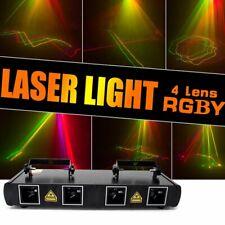 460mW 4 Lens 4 Beam RGBY DJ Disco Laser Lights Stage Light DMX Club Projector