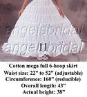 Bridal Petticoat Hoop Skirt Crinoline Slip Wedding Gown Halloween Costume Dress