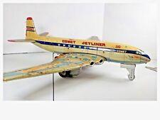 Vintage 1950s Yonezawa De Havilland Comet Jetliner Tin Friction Toy Airplane