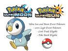 Pokemon Ultra Sun and Moon Pokemon Rally Veritys Piplup Japan Event Pokemon