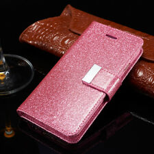 For Samsung Galaxy Note 3 Bling Glitter Sparkly Leather Flip Wallet Case Cover
