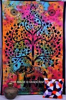Tree Elephant Tapestry Wall Hanging Bohemian Hippie Twin Bedspread Decor Throw