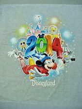 2014 Gray Disneyland Resort T-Shirt Adult Xlarge Xl New Nwt