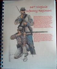 Civil War History of the 34th Virginia Infantry Regiment
