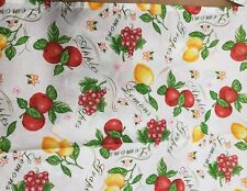 """Thin Fabric Kitchen Apron (18""""x 30"""") 3 FRUITS: APPLES, LEMONS & GRAPES by Oxford"""