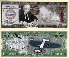 Remember Pearl Harbor w/USS Arizona Memorial Million Dollar Bill