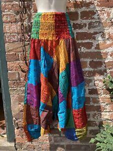 hippie/boho/alternative free size baggy alibaba harem trouser Patchwork Jumpsuit