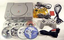 Konsole PlayStation 1 Mit 8 viele spiele Rennwagen SONY ps1 psx ps one Getestet