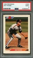1992 bowman #460 JIM THOME cleveland indians PSA 9