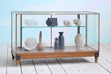 Antique Vintage Mid-Century Haberdashery Glass Cabinet Shop Display Counter