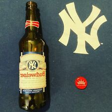 Budweiser Mlb New York Yankees Empty 12oz Rally Edition Glass Bottle