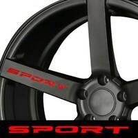 SPORT Decal Sticker Wheels Rims Racing Sport car Sticker Emblem logo 4pcs/set