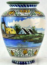 Vintage Gouda Pottery Vase, Holland. c. 1920-30.