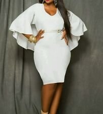 Batcape Dress XXL White