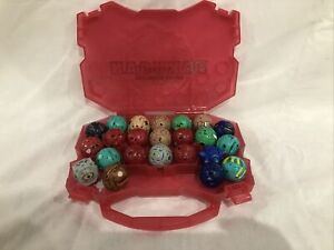 Lot of 23 Bakugan Figures Battle Brawler Mixed Lot Some Translucent With Case