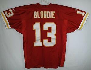 Kansas City Chiefs #13 Joe Montana Blondie Football Jersey Reebok NFL Equip XL48
