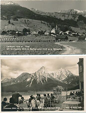 2 Karten aus Lermoos in Tirol    30/1/16